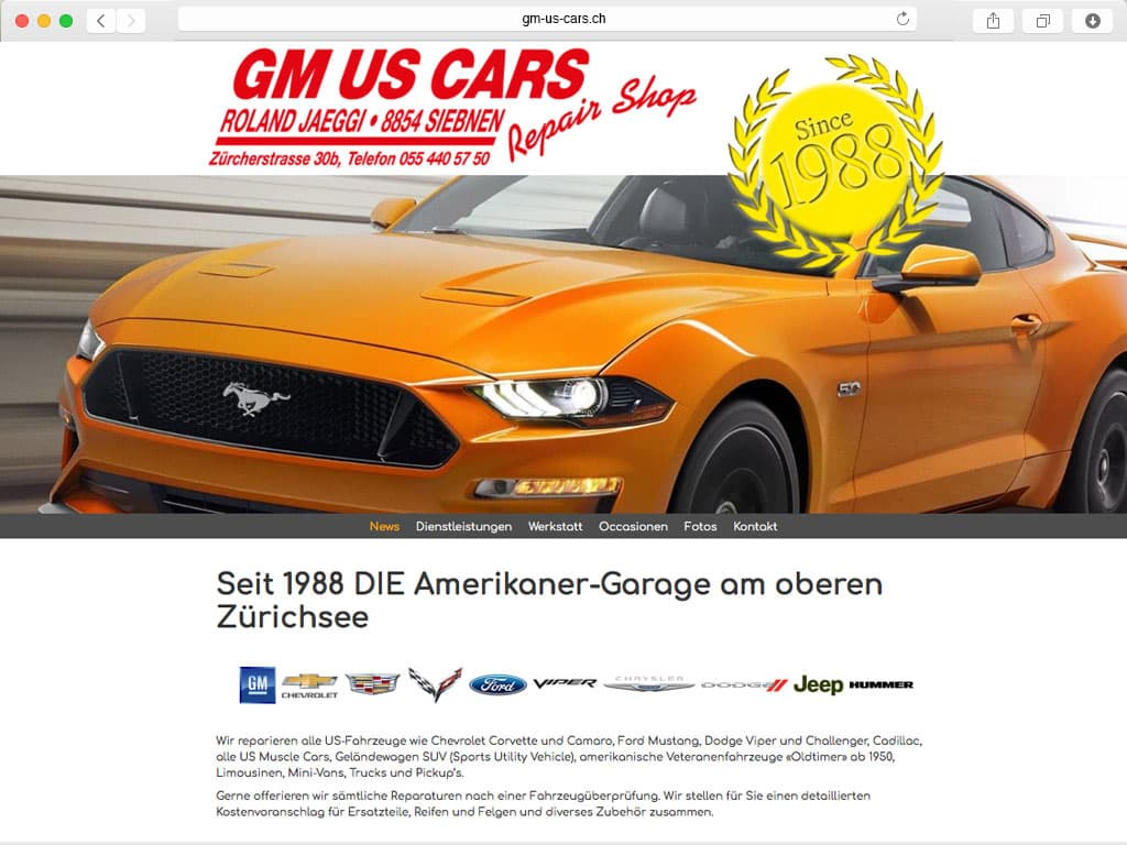 Auto-Garage für US-Cars in Siebnen